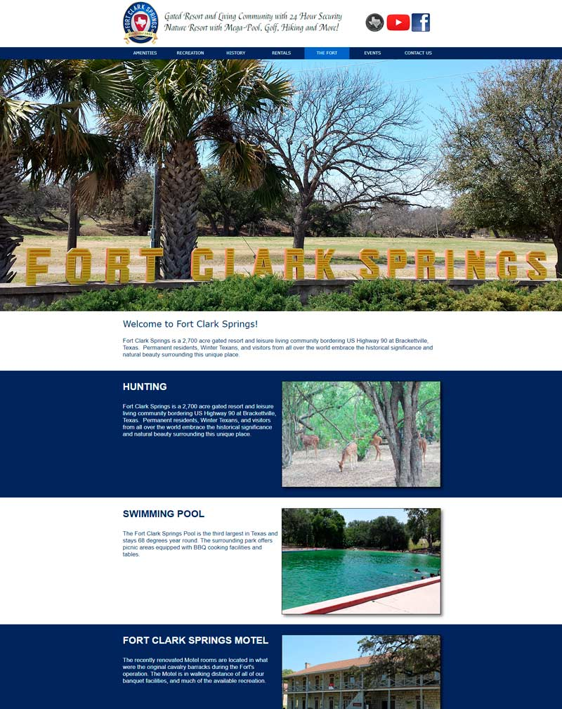 Image of Fort Clark Springs website